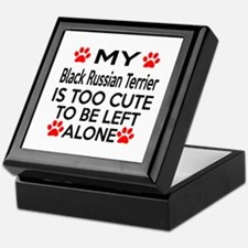 Black Russian Terrier Is Too Cute Keepsake Box