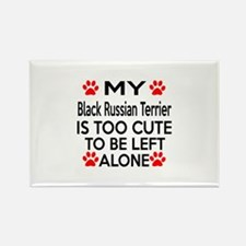 Black Russian Terrier Is Too Cute Rectangle Magnet