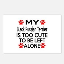 Black Russian Terrier Is Postcards (Package of 8)