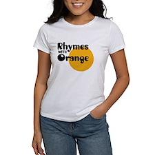 Rhymes with orange- Tee