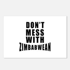 Don't Mess With Zimbabwea Postcards (Package of 8)