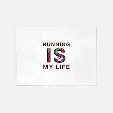 TOP Running Life 5'x7'Area Rug
