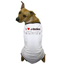 I Heart J-Bodies Dog T-Shirt