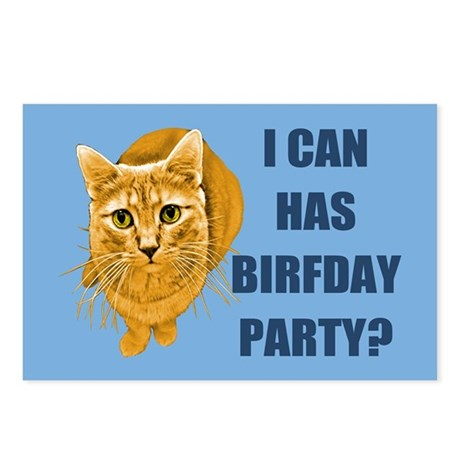 LOLCAT Birthday Party Postcards (Package of 8)