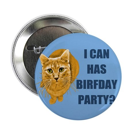 """LOLCAT Birthday Party 2.25"""" Button (100 pack)"""