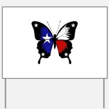 Texas Butterfly Yard Sign