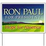 Ron Paul Hope for America Premium Yard Sign