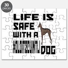 Life Is Safe With A Xoloitzcuintli Dog Desi Puzzle