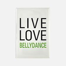 Live Love Bellydance Rectangle Magnet