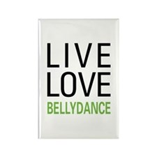 Live Love Bellydance Rectangle Magnet (10 pack)