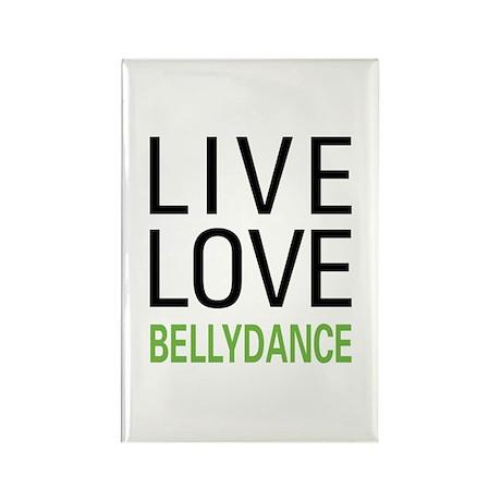 Live Love Bellydance Rectangle Magnet (10 pack)