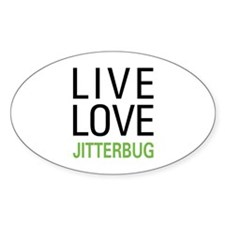 Live Love Jitterbug Oval Decal