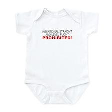 LEVEL FLIGHT PROHIBITED Infant Bodysuit