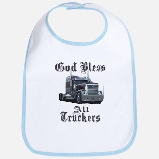 God Bless All Truckers Bib