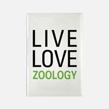 Live Love Zoology Rectangle Magnet