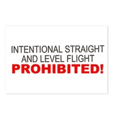 LEVEL FLIGHT PROHIBITED Postcards (Package of 8)