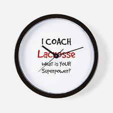coach lacrosse Wall Clock