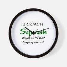 coach squash Wall Clock