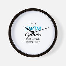 swim coach Wall Clock