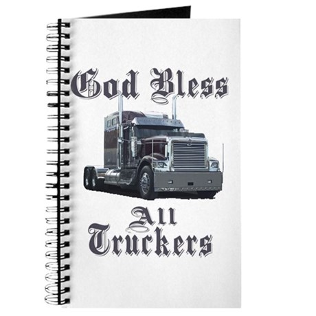 God Bless All Truckers Journal