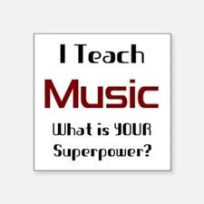 "teach music Square Sticker 3"" x 3"""