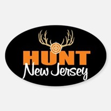 Hunt New Jersey Oval Decal