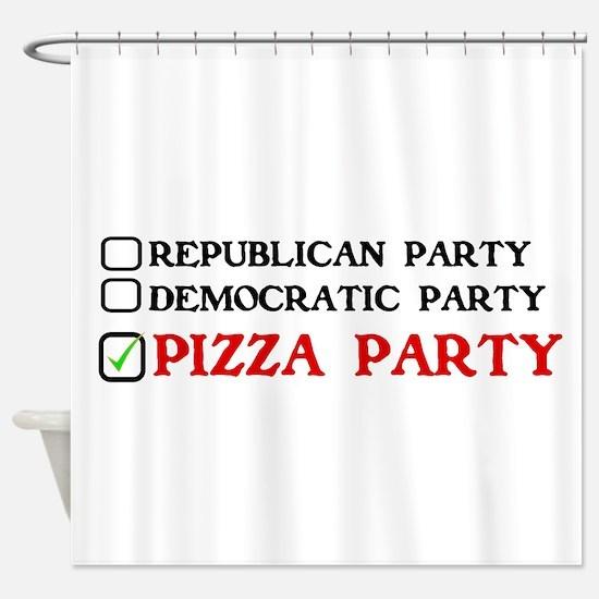 Unique Pizza Shower Curtain