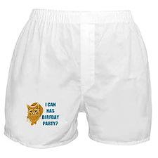 LOLCAT Birthday Party Boxer Shorts