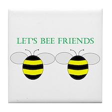 Unique Cute bumble bee Tile Coaster