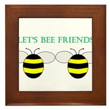 Cute Bumble bee Framed Tile