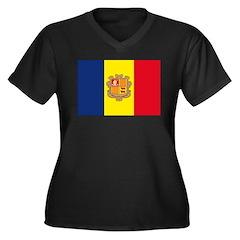 Andorra Women's Plus Size V-Neck Dark T-Shirt
