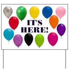 Balloons Birthday Party Yard Sign