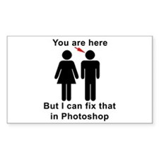 You are here, but... Decal