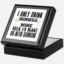 I Only Drink Mimosa Wine Keepsake Box