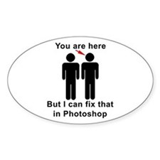 You are here, but... Stickers