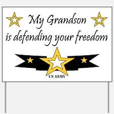 Army Grandson Defending Freedom Yard Sign