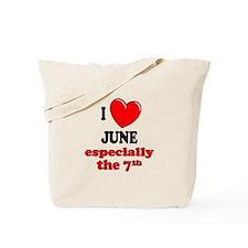 June 7th Tote Bag