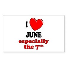 June 7th Rectangle Decal
