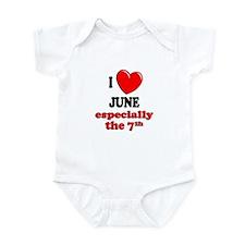 June 7th Infant Bodysuit