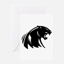 Unique Panther Greeting Card