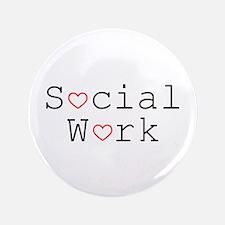 """Social Work Hearts 3.5"""" Button"""