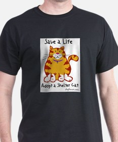 Shelter Cat Ash Grey T-Shirt