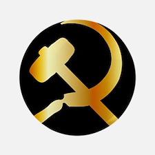 Communism Symbol Button