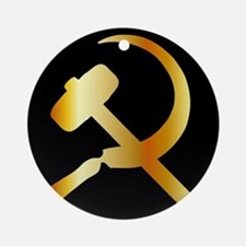 Communism Symbol Round Ornament