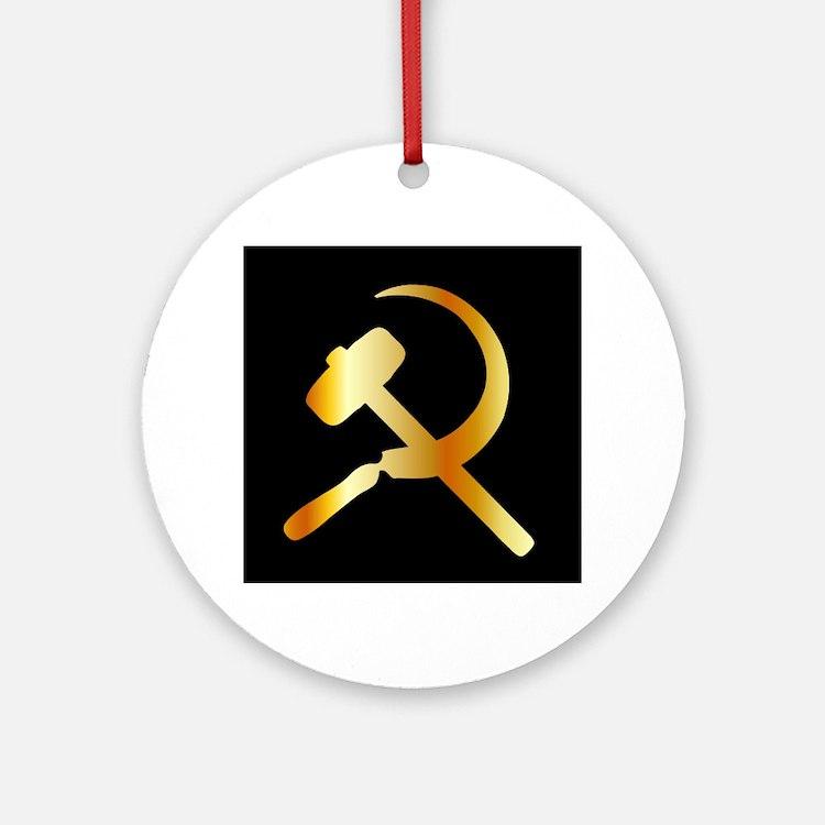 Communism Symbol Round Ornament