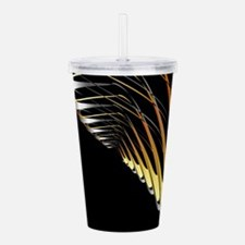Fractal gold and silve Acrylic Double-wall Tumbler