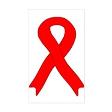Red Ribbon Rectangle Decal
