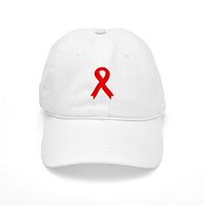 Red Ribbon Baseball Cap