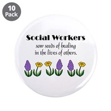 "Seeds of Healing 3.5"" Buttons (10 pack) (Black)"