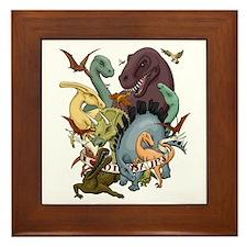 I Heart Dinosaurs Framed Tile